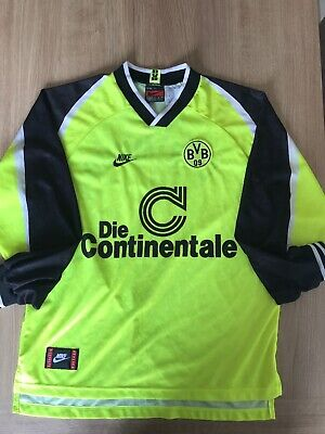 detailed look 1acf5 35881 BORUSSIA DORTMUND 1995-1996 Home Football Shirt XL Mens BVB Jersey Long  Sleeve