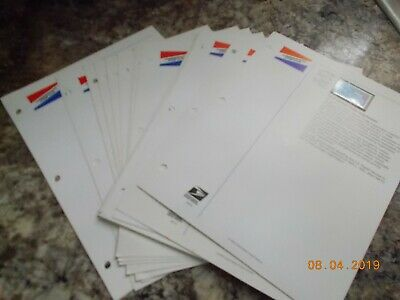 Lot of 68 USPS 33 cent MNH Postage Stamps on USPS Commemorative Stamp Club Pages