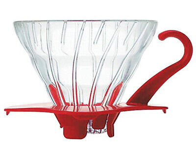 HARIO V60 Heat-resistant Glass Transparent Dripper 01R Red VDG-01R NEW  F/S