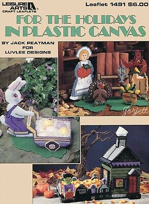 For the Holidays, Pilgrims Bunny Haunted House &More plastic canvas pattern book