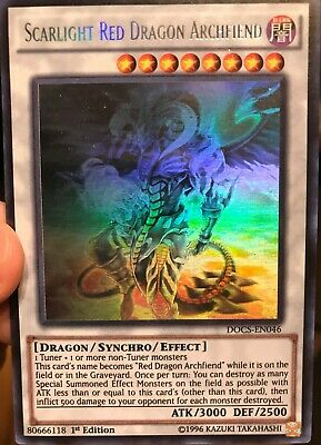 Yugioh Scarlight Red Dragon Archfiend Ghost DOCS-EN046 1st Ed NM