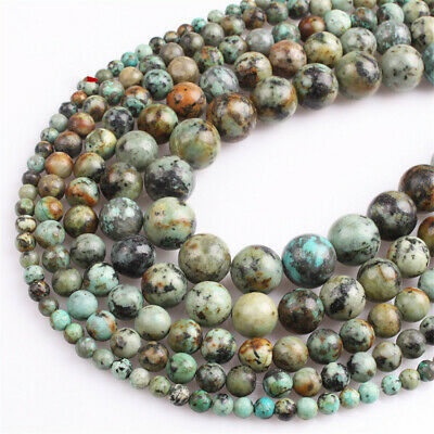 4-12mm Natural African Turquoise Loose Beads Diy Accessories Spacer Craft Lots