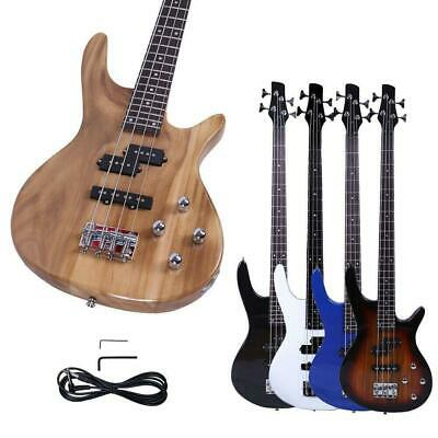 "New 34"" Basswood 24 Frets Right Handed 4 Strings Electric Bass Guitar"