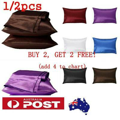 2 pcs Pure Mulberry Silk PillowCase Soft Satin Cushion Cover Housewife Standard