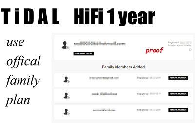 Tidal HiFi 1 year personal account (no need to change account every 3 month)