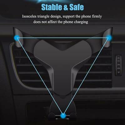 Universal Adjustable Phone Holder Car Air Vent Auto Gravity Mount Cradle Stand