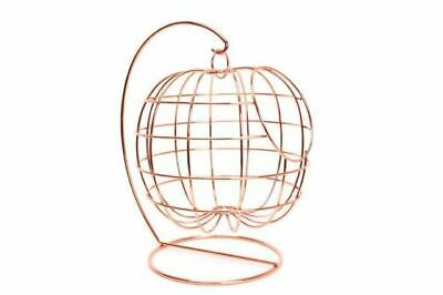 Copper Effect Hanging Wire Fruit Basket Holder 35cm high