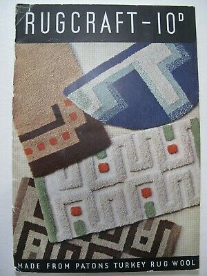 RUGCRAFT by PATONS – 1930's pattern book