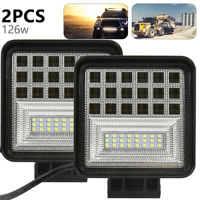 126W Car 12/24V LED Work Spot Lights Spotlight Lamp Van ATV Offroad SUV Truck W6