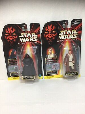 Star Wars Episode I Basic 1999 Lot: Obi-Wan Kenobi, Darth Maul