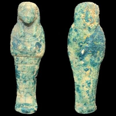 EGYPTIAN HIEROGLYPHIC SHABTI, LATE PERIOD 664 - 332 BC (1) Large Over 13 cm !!!!