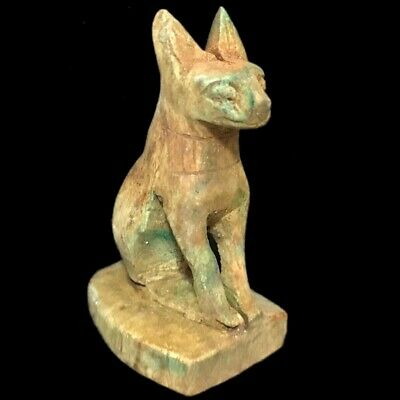 Egyptian Cat Statue, Late Period 664 - 332 Bc (1)