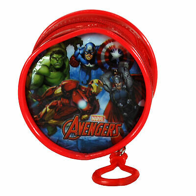 Round Character PVC Front Coin Wallet Purse with Clip - Avengers
