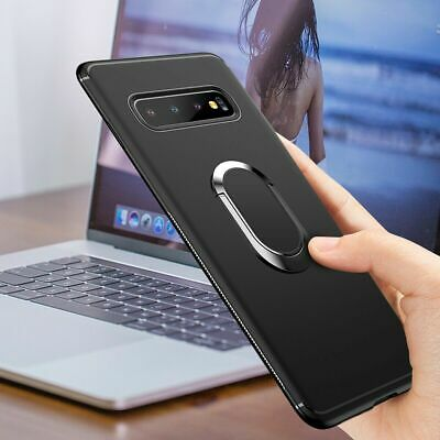 For Samsung S10 S9 S8 Plus Magnetic Ultra Thin Ring Holder Case Cover Stand