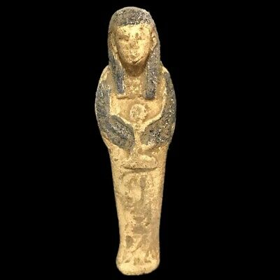 EGYPTIAN HIEROGLYPHIC SHABTI, LATE PERIOD 664 - 332 BC (7) Large Over 10 cm !!!!