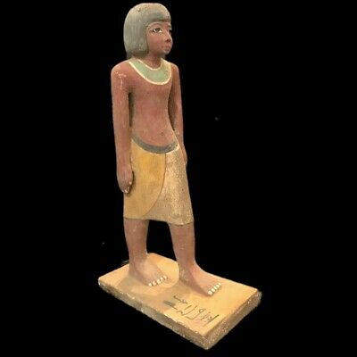 Beautiful Ancient Huge Egyptian Wooden Statuette 300 Bc (1) 33.5 Cm Tall !!!!!