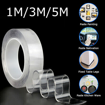 Nano Magic Tape Double-Sided Anti-Slip Invisible Traceless Washable Adhesive Gel