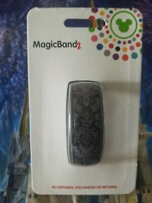 Disney Haunted Mansion Black Purple Creepy Wallpaper Magic Band 2.0 Linkable
