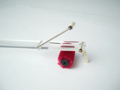 Watts Dust Bug Arm Vinyl Record Player Cleaning Turntable Brush Cleaner Red Pad