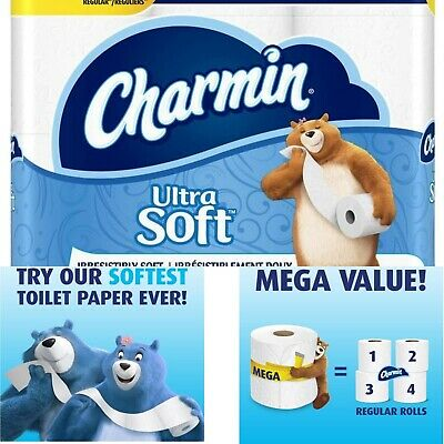 Ultra Soft 2-ply Toilet Paper Charmin Clog-Safe and Septic-Safe Eco 12-Pack
