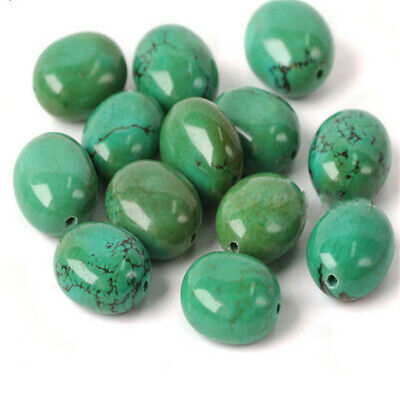 1pcs Yellow Green Turquoise Oval BeadsLoose Bead Wholesale 15 inches Styles