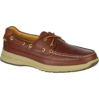 Sperry Top-Sider Mens Gold Cup Ultralite 2-Eye Boat Shoes Cognac Leather w/ ASV