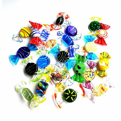 24pcs Vintage Murano Glass Sweets Candy Ornaments Wedding Christmas Decorations