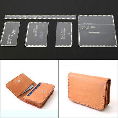 Acrylic Leather Craft Template Pattern For Business Card Holder Bag Handmade DIY