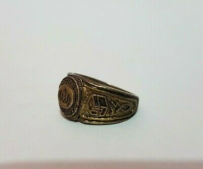 Antique Vintage Islamic Bronze Ring With Beautiful Old Rare Unique Inscription