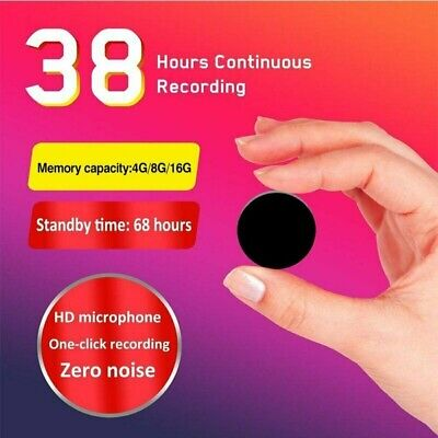 AU 8GB Brooch Audio Mini Voice Recorder Voice Activated Microphone MP3 Player