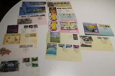 1993-1995 CHRISTMAS ISLAND FDC COLL x15 SEABIRDS,ORCHIDS,LUNAR YEAR,END WWII