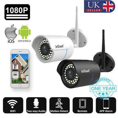 ieGeek 720P/1080P Wireless WIFI IP Camera Onvif CCTV Security Night Vision Cam