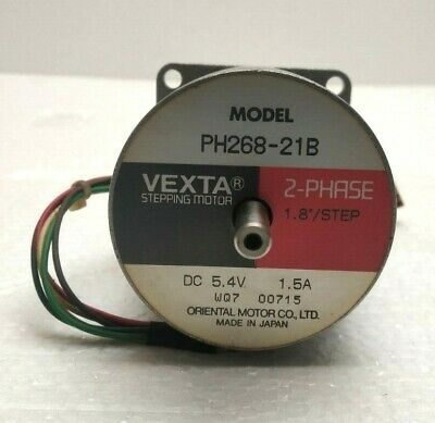 Oriental Motor Vexta PH268-21B Stepping Motor, 2-Phase, 1.8 Deg/Step, 5.4VDC
