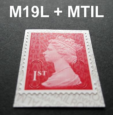 NEW JULY 2019 1st Class M19L + MTIL MACHIN SINGLE STAMP from Booklet