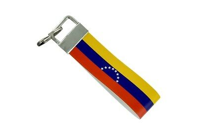 Keychain stripe key lanyard flag keyring ring car jdm band remote venezuela