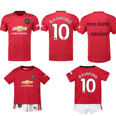 UK 19-20 New Football Kits Soccer Suits Kids Adults Jersey Strip Sports Outfit