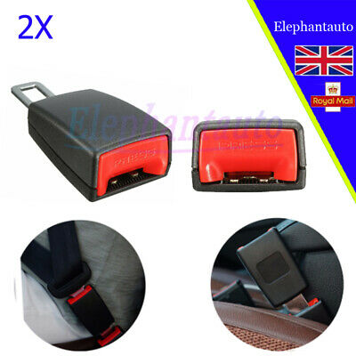 2 PC Universal Car Safety Seat Belt Extender Extension Buckle Lock Clip New