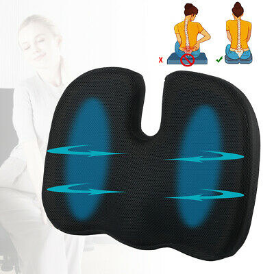 Office Chair Memory Foam Seat Cushion Back Pain Relief Orthopedic Pillow Coccyx