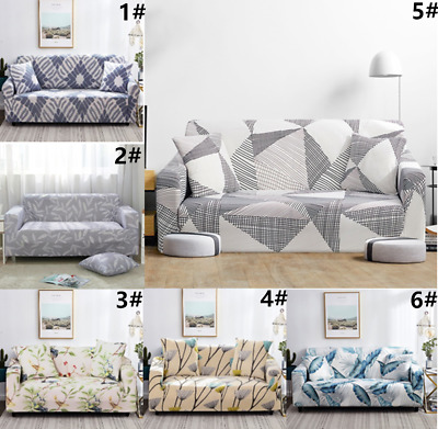 1-3Seat Sofa Covers Couch Slipcover Stretch Elastic Fabric Settee Protector Fit
