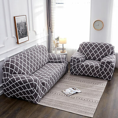 1-4 Slipcover Seater Elastic Sofa Covers Settee Stretch Floral Couch Protector