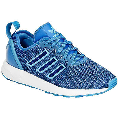 adidas Originals Kids Junior ZX Flux ADV Sports Shoes Trainers - Blue