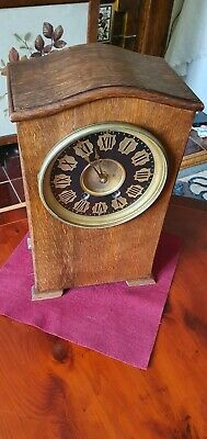 LARGE MANTLE / BRACKET CLOCK WITH TING TANG MOVEMENT WORKING c1900