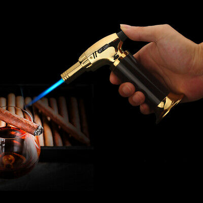 Refillable Butane Torch Windproof Gas Lighter Adjust Jet Flame Electric NEW GD