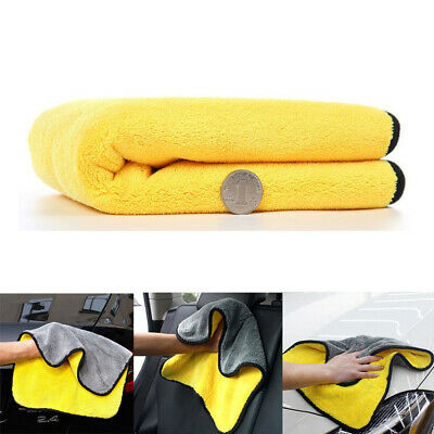 Thick Car Microfiber Towel Car Wash Cleaning Drying Cloth Home Kitchen 40*40cm