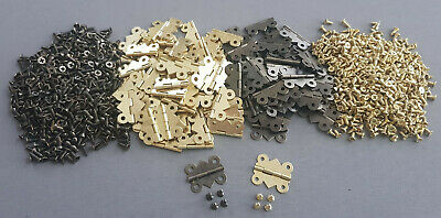 Hinges Butterfly Style Gold/Brown Hinge Screws Dollhouse Models Woodworking Door