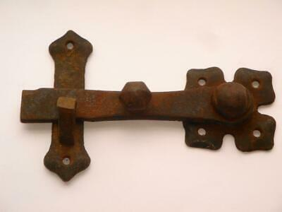 Superb Rare Antique Victorian Pugin Gothic Iron Cast Blacksmith  Door Latch