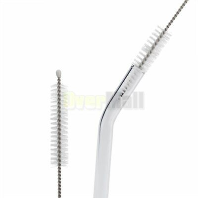 set of 12 Glass Straws Clear 10mm Drinking Straws&Brush Reusable Straws Healthy