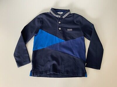 Hugo Boss Boys Long Sleeve Polo Top Age 6 Years Slim Fit