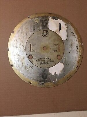 Antique ITR International Time Recorder Clock Dial Parts