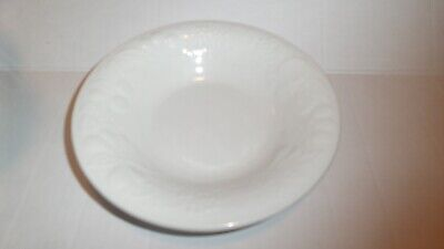 """Retired Gibson Housewares White Salad Bowl 8"""" Embossed Fruit Replacement Pc Mint"""